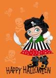 Карточка счастливый Halloween Стоковые Изображения