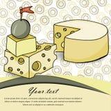 Карточка сыра Стоковая Фотография RF