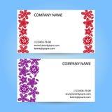 Карточка с бумажными цветками Стоковое Изображение RF