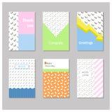 Карточка с геометрическими и абстрактными элементами Стоковое Изображение