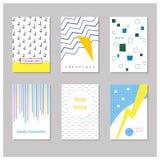 Карточка с геометрическими и абстрактными элементами Стоковая Фотография RF