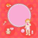 Карточка с девушкой дня рождения Стоковые Изображения RF