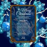 Карточка с космосом для текста и рождественской елки стиля Стоковое фото RF