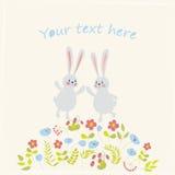 Карточка с кроликами Стоковое фото RF