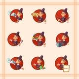Карточка с паломником шаржа на благодарение иллюстрация штока