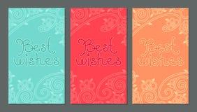 Карточка с помечать буквами наилучших пожеланий Стоковое Фото