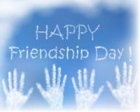 Карточка с приветствием для торжества дня приятельства Стоковые Изображения