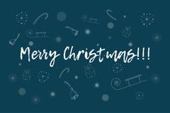 Карточка с Рождеством Христовым Стоковое Изображение RF