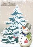 Карточка - с Рождеством Христовым! иллюстрация вектора