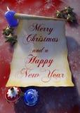 Карточка с Рождеством Христовым Стоковые Фото
