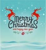 Карточка с Рождеством Христовым Стоковые Изображения