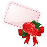 Карточка с розами Стоковые Фото
