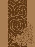 Карточка с розами. Бесплатная Иллюстрация