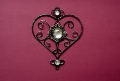 Карточка с сердцем сформировала шкентель для дизайна знамени Карточка с шкентелем на красном фоне Романтичная концепция дня Карто Стоковые Изображения