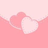 Карточка с сердцем Стоковое Фото