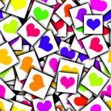 Карточка с сердцами Стоковое фото RF