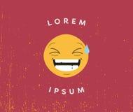Карточка с смеясь над ipsum lorem emoji и текста бесплатная иллюстрация