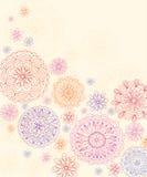 Карточка с стилизованными цветками Стоковое Изображение RF