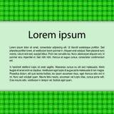 Карточка с текстом на зеленой предпосылке ткани Иллюстрация вектора