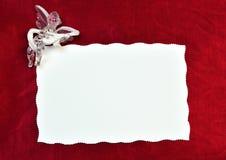 Карточка с углом Стоковые Фото