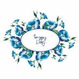 Карточка с цветками акварели бесплатная иллюстрация