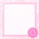 Карточка с цветками и место для текста Стоковое Фото