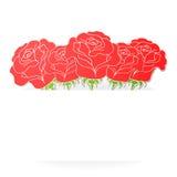 Карточка с цветками и место для текста Стоковое Изображение