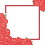 Карточка с цветками и место для текста Стоковое фото RF