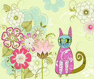 Карточка с цветками Стоковые Фото