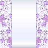 Карточка с цветком сирени Стоковые Фотографии RF