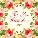 Карточка с цветочным узором Стоковые Изображения