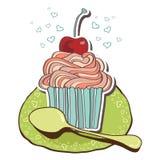 Карточка с чаем и пирожными Стоковые Изображения
