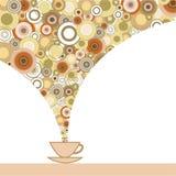 Карточка с чашкой кофе бесплатная иллюстрация