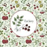 Карточка с ягодами Стоковые Изображения RF