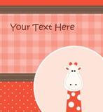 Карточка с giraffe шаржа Стоковое Изображение RF