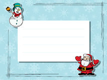 Карточка текста торжества зимы Стоковое Изображение