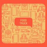 Карточка тележки еды Стоковое Изображение RF