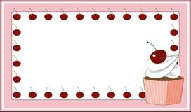Карточка торта чашки Стоковая Фотография RF
