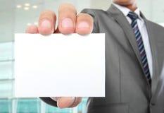 Карточка удерживания руки Стоковые Фото