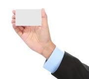 Карточка удерживания руки Стоковое фото RF