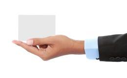 Карточка удерживания руки Стоковые Изображения RF
