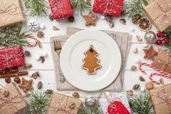 Карточка украшения рождества Стоковые Изображения