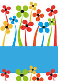 карточка флористическая Стоковое фото RF