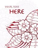 карточка флористическая Стоковое Изображение