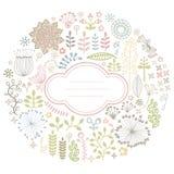 карточка флористическая Стоковые Изображения