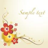 карточка флористическая Стоковое Фото