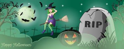 Карточка хеллоуина с пугающими вещами стоковые изображения rf