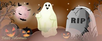 Карточка хеллоуина с пугающими вещами стоковое фото
