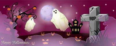 Карточка хеллоуина с пугающими вещами стоковая фотография