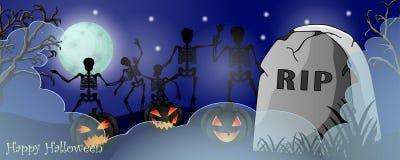 Карточка хеллоуина с пугающими вещами стоковое изображение